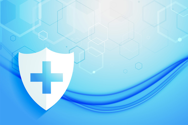 medical healthcare system protection shield background design